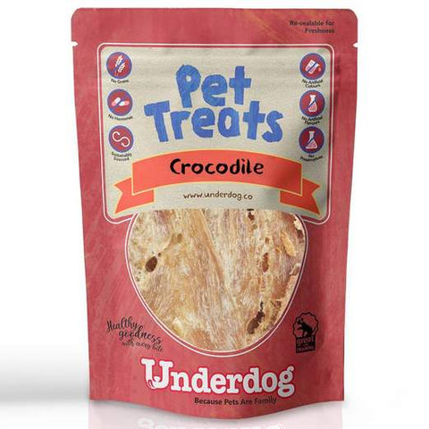 Underdog Air Dried Crocodile Dog Treats (60g)
