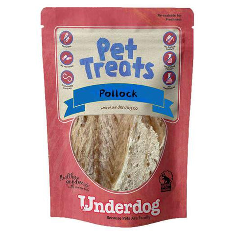 Underdog Air Dried Pollock Fish Dog Treats (80g)
