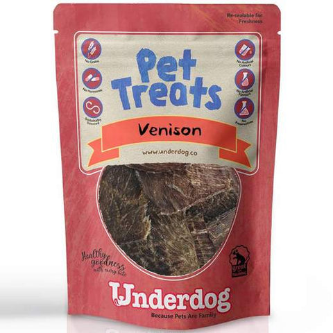 Underdog Air Dried Venison Jerky Dog Treats (60g)