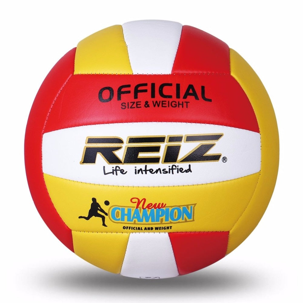 REIZ Soft PU Volleyball Official Size 5# Volleyball Professional Indoor & Outdoor Training Ball With Free Gift Net Needle
