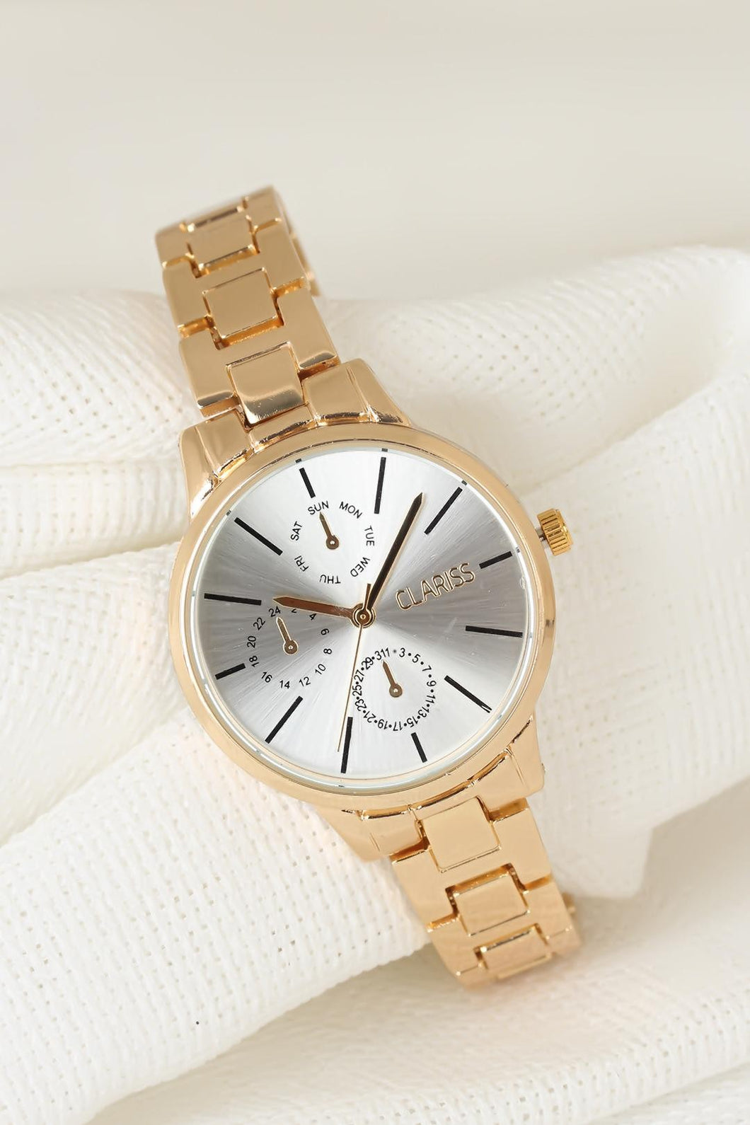 Women's Metal Golden Corded Watch
