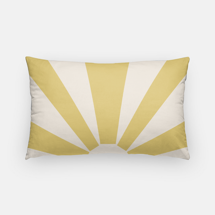 Muse California Fat Rays Lumbar Pillow - Mustard