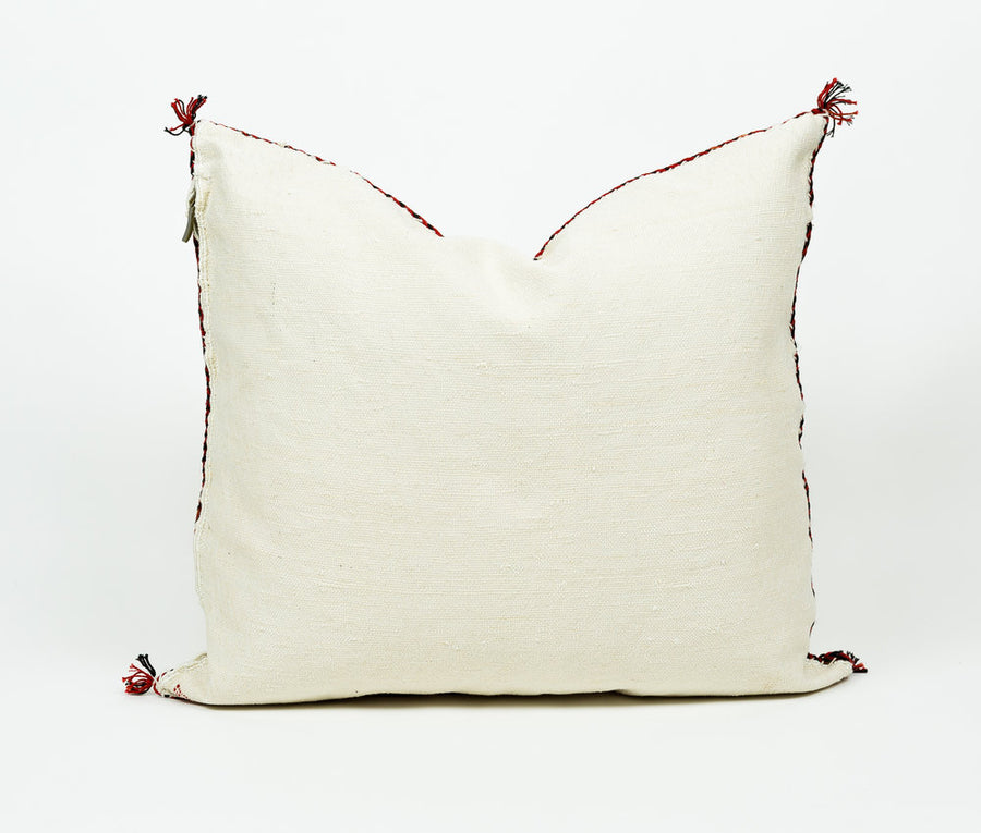 White Moroccan Pillow