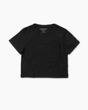 Boxy Crop Tee Black