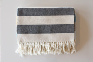Beautiful blankets and rugs designed by Dana Haim, available at Muse California