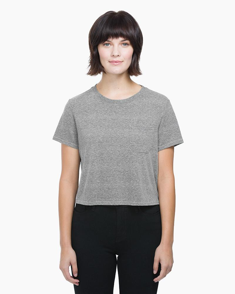 Boxy Crop Tee Heather Grey