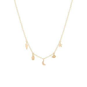 14K Celestial Charm Necklace