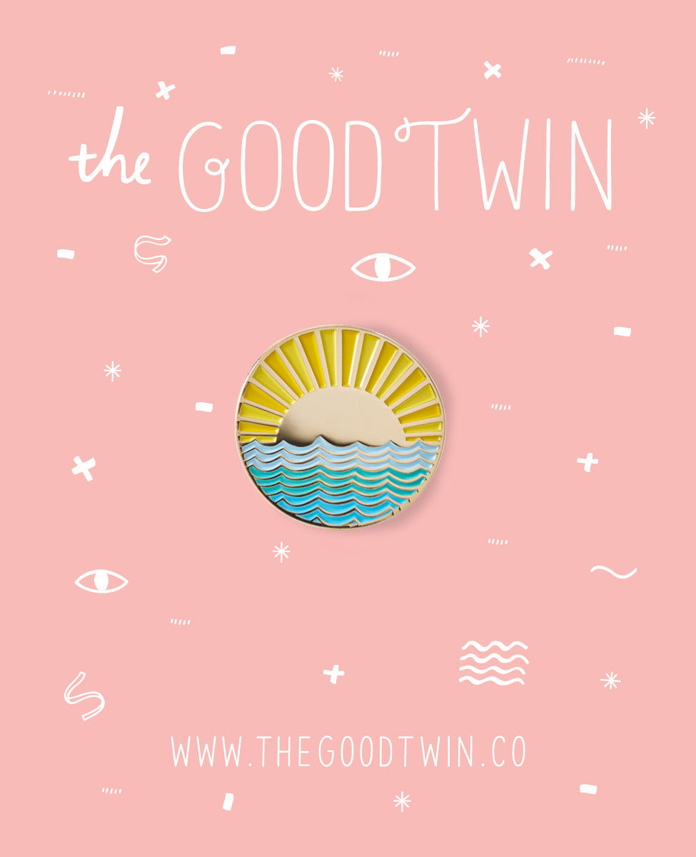 The Good Twin - Sunny Side Pin + Post Card