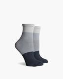 Riker Ankle Sock - White & Grey