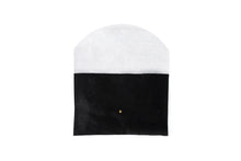 Black & White Cowhide Envelope Clutch