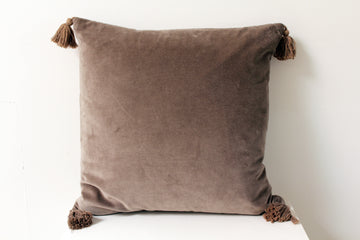 Taupe Velvet Pillow
