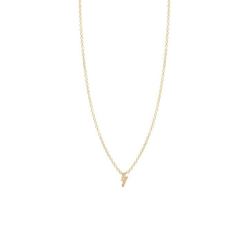 Zoe Chicco 14K & Pavé Lightning Bolt Necklace