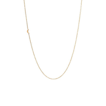 Zoe Chicco 14K Moon Necklace