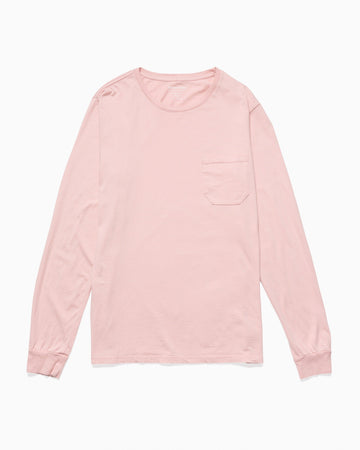 Men's Long Sleeve Crew Pocket Tee - Blush
