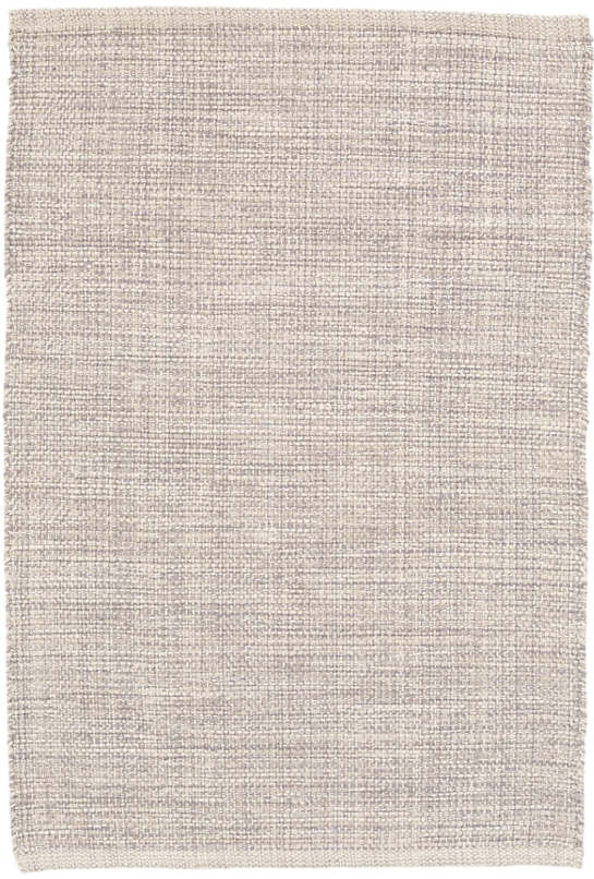 Marled Grey Woven Cotton Rug