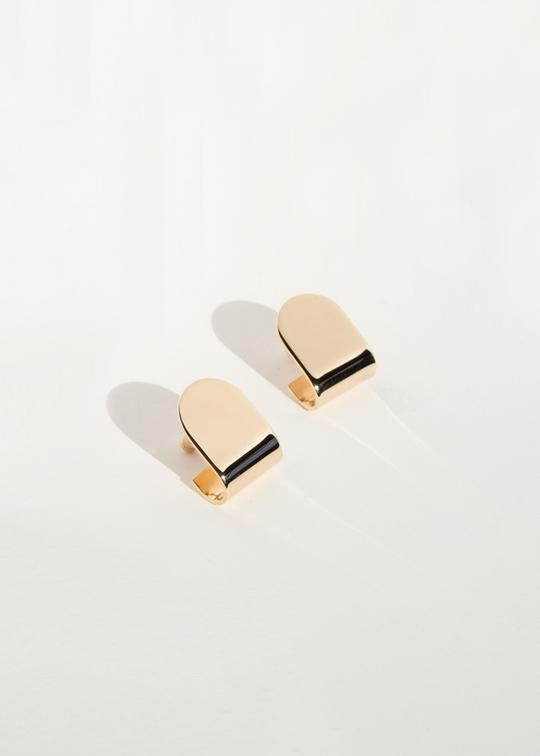 Fold Stud Earrings Bronze