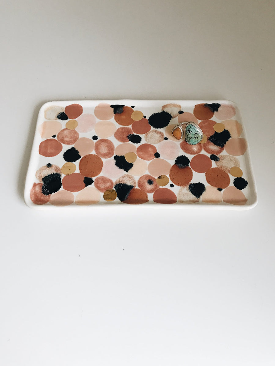 Pink Spotted Tray