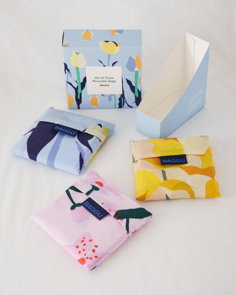 Standard Baggu - Set of Three - Spring Flowers