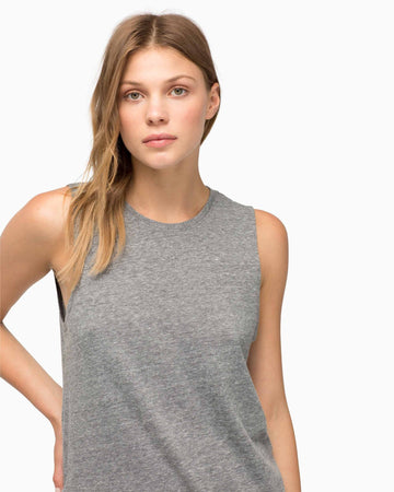 Women's Muscle Tank - Heather Grey