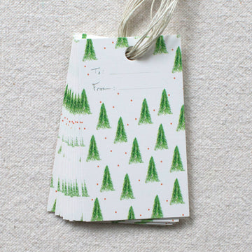 Isa Salazar - Holiday Tree Pattern Gift Tags, s/10