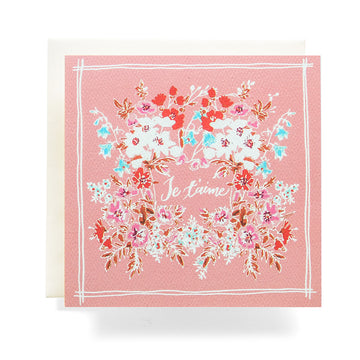Handkerchief Je T' Aime Greeting Card