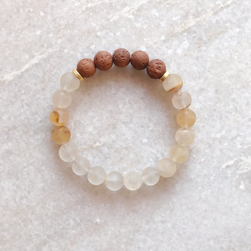 Muse + Lovers and Heroes Diffuser Bracelet - Citrine