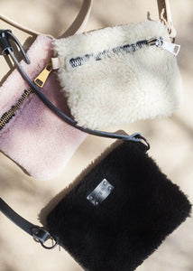 Pink Shearling Fanny Pack