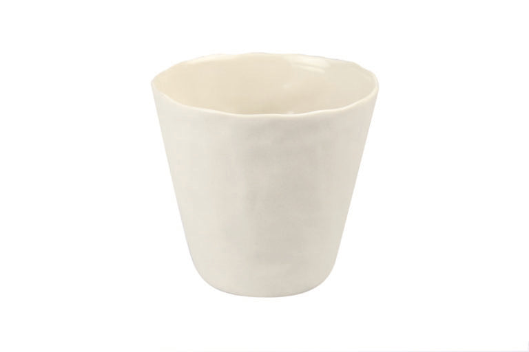 White Stoneware Planter