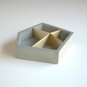 Concrete & Brass Box