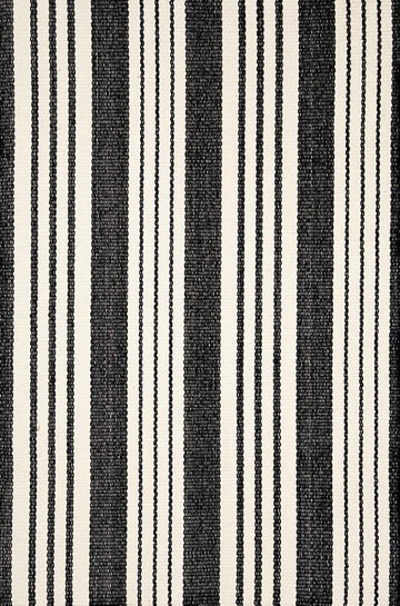 Birmingham Black Woven Cotton Runner