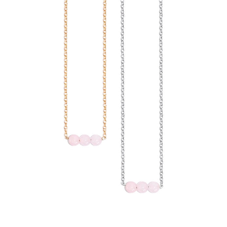 Feel the Love Rose Quartz Necklace