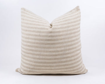 Beige Striped Pillow