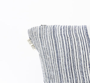 Midnight + Grey Striped Pillow