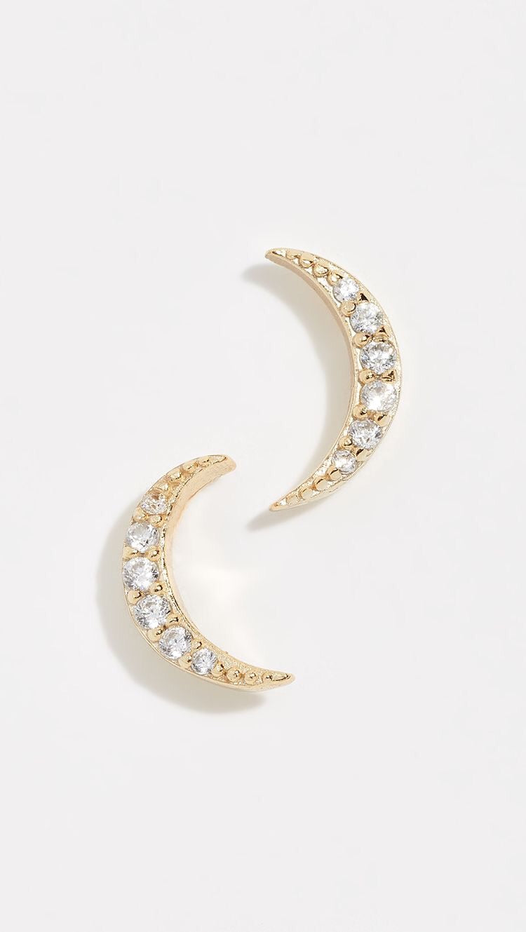 Venus Pave Stud Earrings