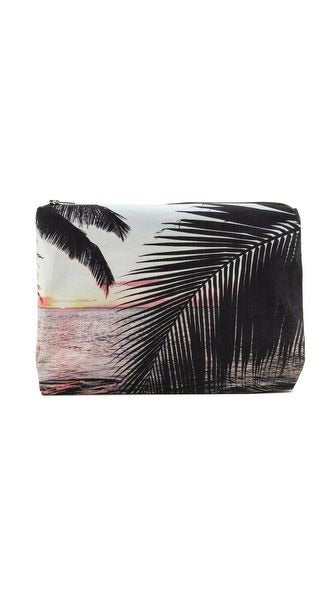 Sunset Palm Clutch