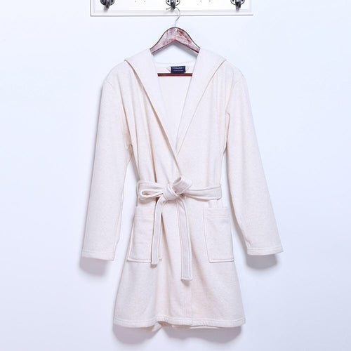 Short Terry Hooded Robe
