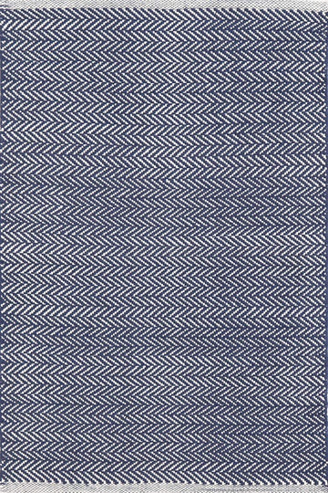 Herringbone Indigo Woven Cotton Runner