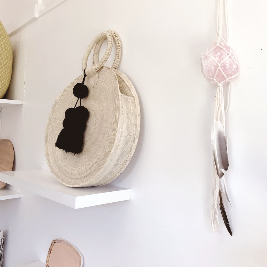 Rose Quartz Love Child Crystal Wall Hanging