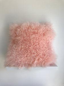 Pink Fur Pillow