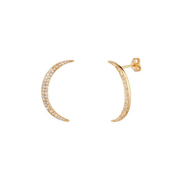 Crescent Pave Earrings