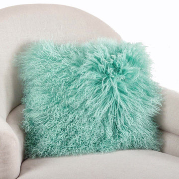 Mint Fur Pillow