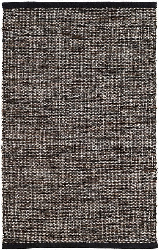 Grant Black Woven Cotton Rug 4x6