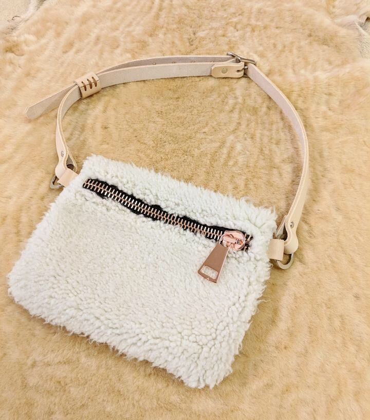 Natural Shearling Fanny Pack