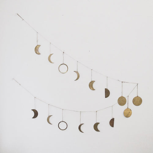 Brass Moon Phases Garland