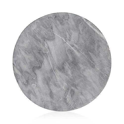 Grey Round Marble Tray