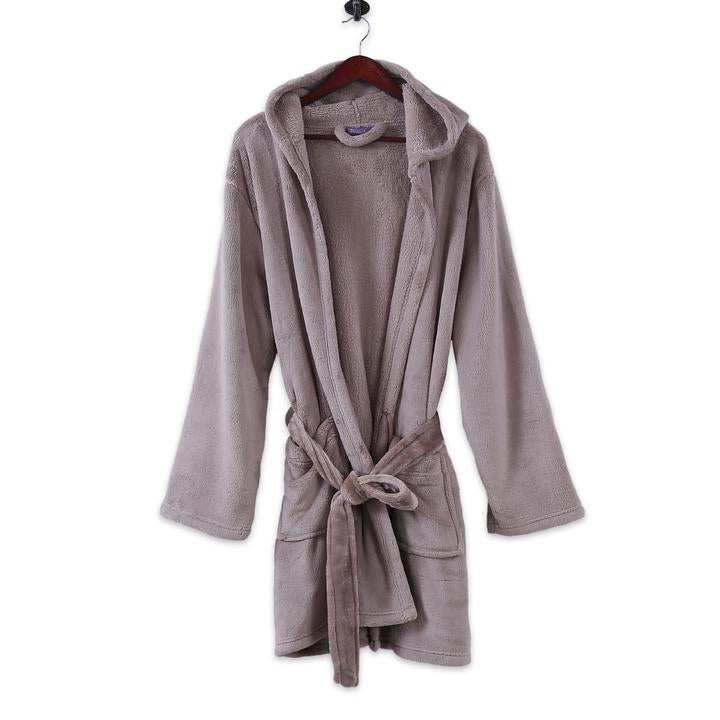 Short Luxury Hooded Robe