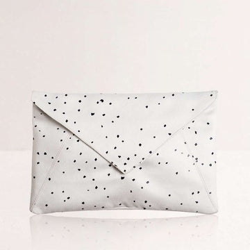 White Confetti Envelope Clutch
