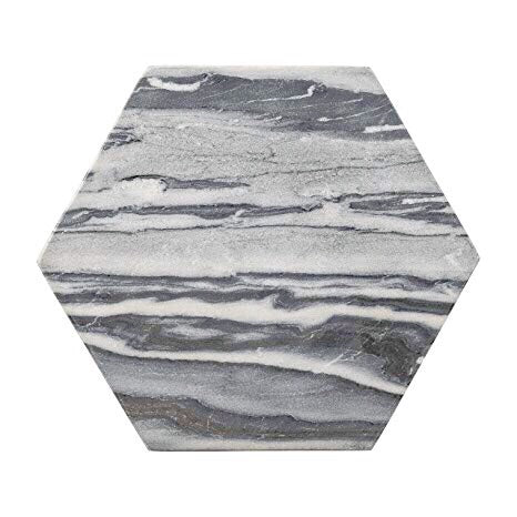 Grey Hexagonal Marble Tray