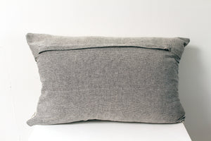 Grey & Ivory Embroidered Pillow