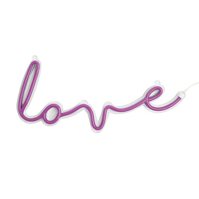 Pink Love LED Neon Wall Light